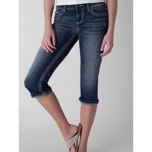 BKE Denim ABK628 Culture Stretch Cropped Dark Wash Jeans Tagged Women's Size 27